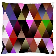 Triangles Abstract Triangle Background Pattern Large Flano Cushion Case (two Sides) by Simbadda
