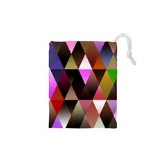 Triangles Abstract Triangle Background Pattern Drawstring Pouches (xs)  by Simbadda