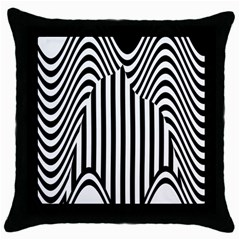 Stripe Abstract Stripped Geometric Background Throw Pillow Case (black)