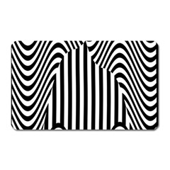 Stripe Abstract Stripped Geometric Background Magnet (rectangular) by Simbadda