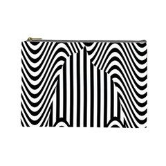 Stripe Abstract Stripped Geometric Background Cosmetic Bag (large)