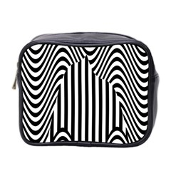 Stripe Abstract Stripped Geometric Background Mini Toiletries Bag 2 Side