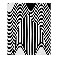 Stripe Abstract Stripped Geometric Background Shower Curtain 60  X 72  (medium)  by Simbadda