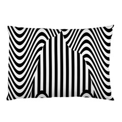 Stripe Abstract Stripped Geometric Background Pillow Case (two Sides) by Simbadda