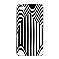 Stripe Abstract Stripped Geometric Background Apple Iphone 4/4s Seamless Case (black) by Simbadda
