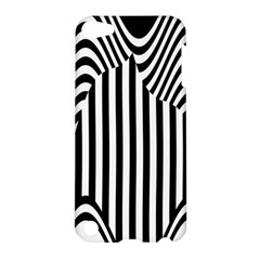 Stripe Abstract Stripped Geometric Background Apple Ipod Touch 5 Hardshell Case by Simbadda