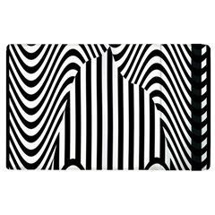 Stripe Abstract Stripped Geometric Background Apple Ipad 3/4 Flip Case by Simbadda