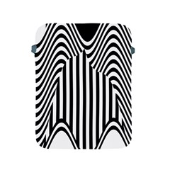 Stripe Abstract Stripped Geometric Background Apple Ipad 2/3/4 Protective Soft Cases by Simbadda