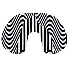 Stripe Abstract Stripped Geometric Background Travel Neck Pillows by Simbadda