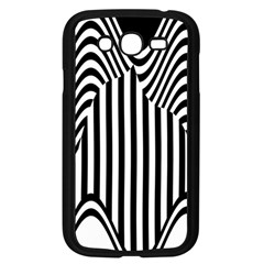 Stripe Abstract Stripped Geometric Background Samsung Galaxy Grand Duos I9082 Case (black)