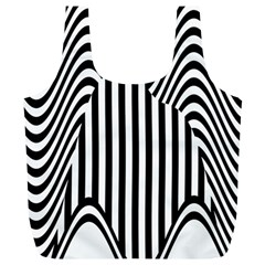 Stripe Abstract Stripped Geometric Background Full Print Recycle Bags (l)  by Simbadda