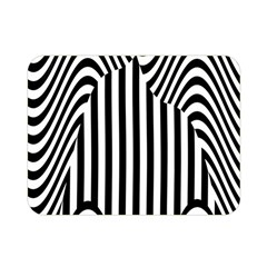 Stripe Abstract Stripped Geometric Background Double Sided Flano Blanket (mini)  by Simbadda