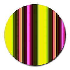 Stripes Abstract Background Pattern Round Mousepads by Simbadda