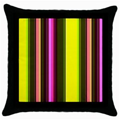 Stripes Abstract Background Pattern Throw Pillow Case (black) by Simbadda
