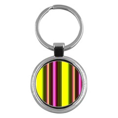 Stripes Abstract Background Pattern Key Chains (round)