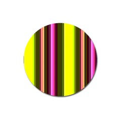 Stripes Abstract Background Pattern Magnet 3  (round)