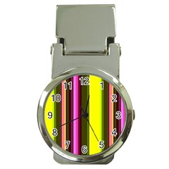 Stripes Abstract Background Pattern Money Clip Watches by Simbadda