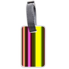 Stripes Abstract Background Pattern Luggage Tags (one Side)  by Simbadda