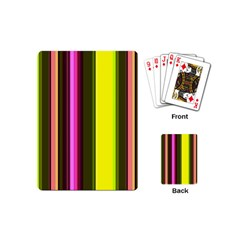 Stripes Abstract Background Pattern Playing Cards (mini)  by Simbadda