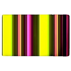 Stripes Abstract Background Pattern Apple Ipad 2 Flip Case