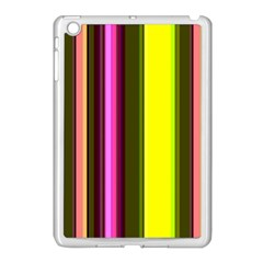 Stripes Abstract Background Pattern Apple Ipad Mini Case (white) by Simbadda