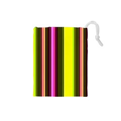 Stripes Abstract Background Pattern Drawstring Pouches (small)