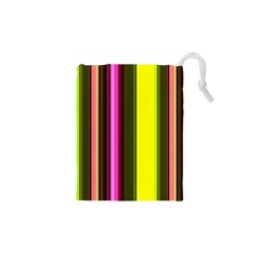 Stripes Abstract Background Pattern Drawstring Pouches (xs)