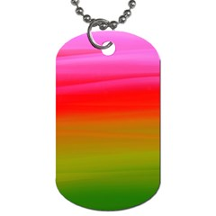 Watercolour Abstract Paint Digitally Painted Background Texture Dog Tag (two Sides) by Simbadda