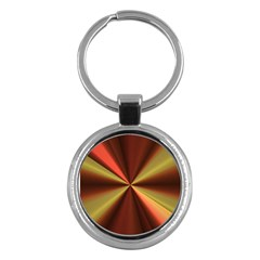 Copper Beams Abstract Background Pattern Key Chains (round)  by Simbadda