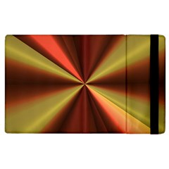 Copper Beams Abstract Background Pattern Apple Ipad 3/4 Flip Case by Simbadda
