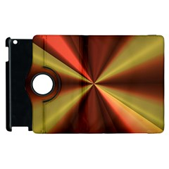 Copper Beams Abstract Background Pattern Apple Ipad 2 Flip 360 Case