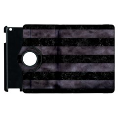 Stripes2 Black Marble & Black Watercolor Apple Ipad 3/4 Flip 360 Case by trendistuff