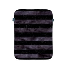 Stripes2 Black Marble & Black Watercolor Apple Ipad 2/3/4 Protective Soft Case by trendistuff
