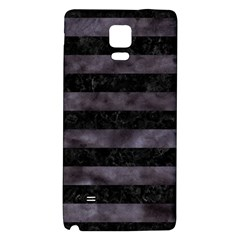 Stripes2 Black Marble & Black Watercolor Samsung Note 4 Hardshell Back Case by trendistuff