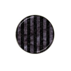 Stripes1 Black Marble & Black Watercolor Hat Clip Ball Marker by trendistuff