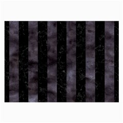 Stripes1 Black Marble & Black Watercolor Large Glasses Cloth by trendistuff