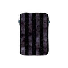 Stripes1 Black Marble & Black Watercolor Apple Ipad Mini Protective Soft Case by trendistuff