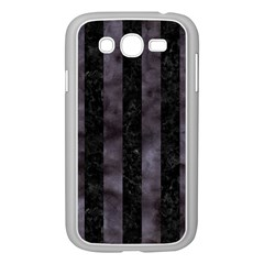 Stripes1 Black Marble & Black Watercolor Samsung Galaxy Grand Duos I9082 Case (white) by trendistuff