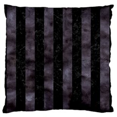 Stripes1 Black Marble & Black Watercolor Standard Flano Cushion Case (two Sides) by trendistuff