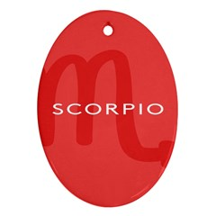 Zodiac Scorpio Oval Ornament (two Sides) by Mariart