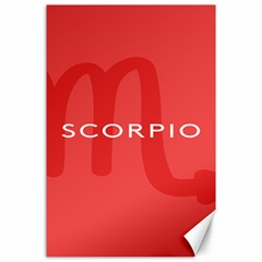 Zodiac Scorpio Canvas 24  X 36  by Mariart