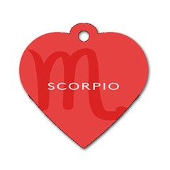 Zodiac Scorpio Dog Tag Heart (two Sides) by Mariart