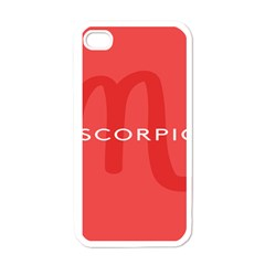 Zodiac Scorpio Apple Iphone 4 Case (white) by Mariart