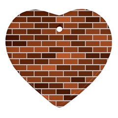 Brick Brown Line Texture Ornament (heart)