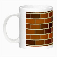 Brick Brown Line Texture Night Luminous Mugs by Mariart