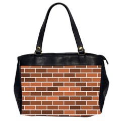 Brick Brown Line Texture Office Handbags (2 Sides)  by Mariart