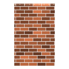 Brick Brown Line Texture Shower Curtain 48  X 72  (small)  by Mariart