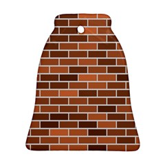 Brick Brown Line Texture Bell Ornament (two Sides) by Mariart