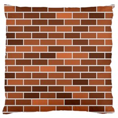 Brick Brown Line Texture Large Cushion Case (two Sides) by Mariart