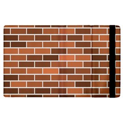 Brick Brown Line Texture Apple Ipad 2 Flip Case by Mariart